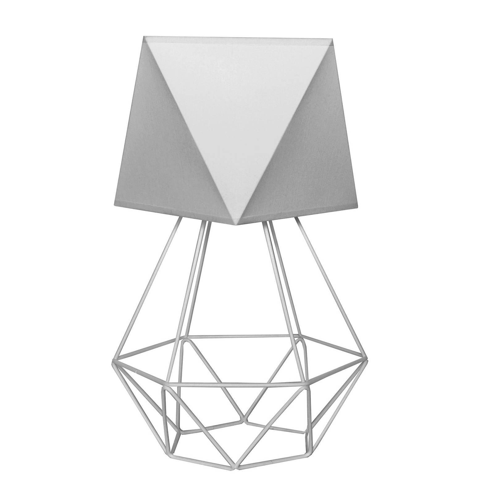 Bordlampe Karo med burfot, høyde 57 cm, grå