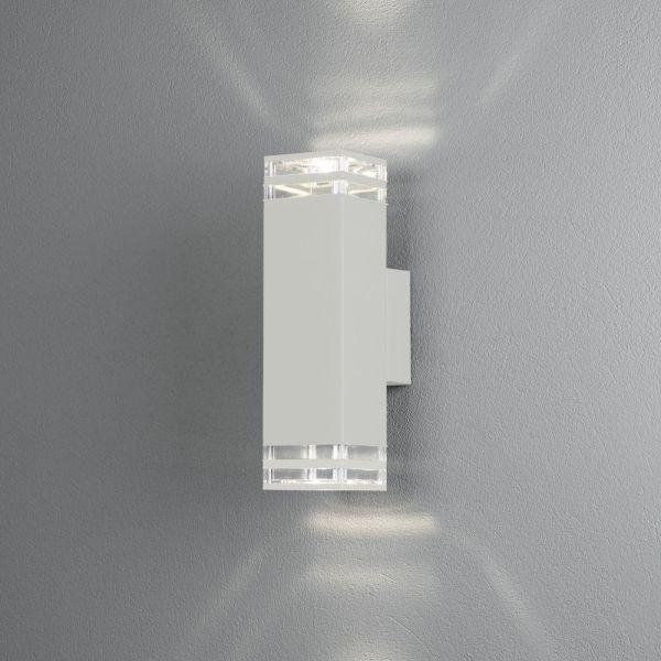 Konstsmide Antares Seinävalaisin 2 x GU10-kanta valkoinen