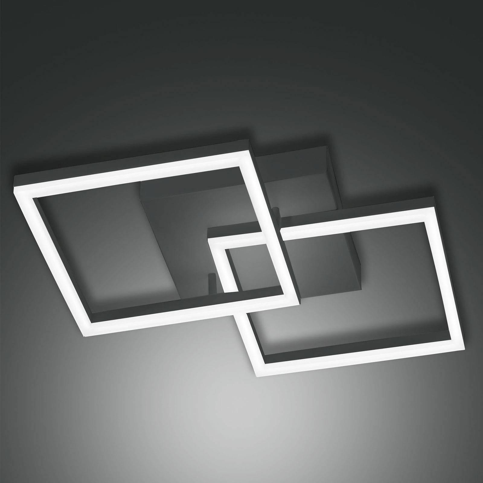 Bard LED-taklampe, 45x45 cm 2 lyskilder, antrasitt