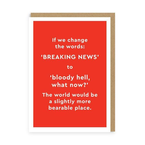 Breaking News.. Again! Greeting Card