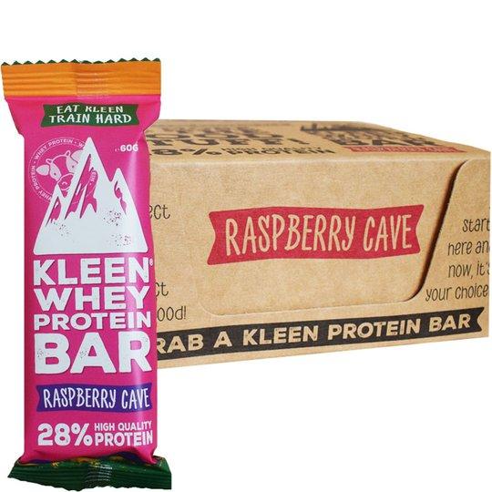 """Proteinbars Raspberry Cave""""16-pack - 38% rabatt"""