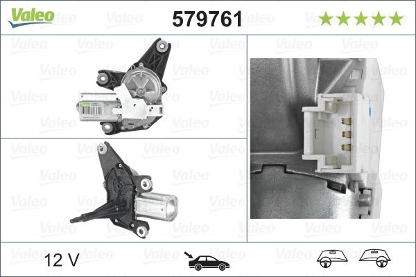 Pyyhkijän moottori VALEO 579761
