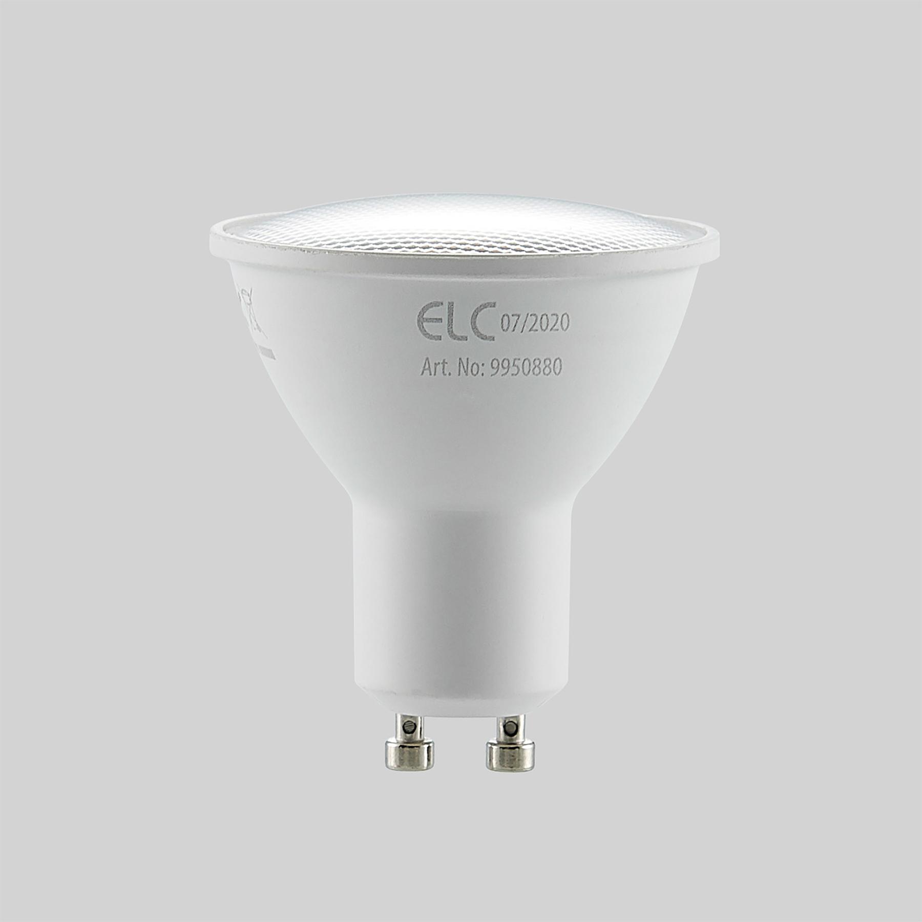 ELC-LED-heljastin GU10 5W 10 kpl 2 700 K 120°