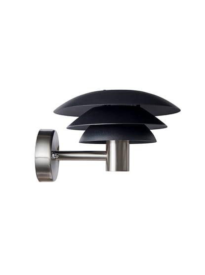 Dyberg Larsen - DL20 Outdoor Wall Lamp - Black/Steel (1022)