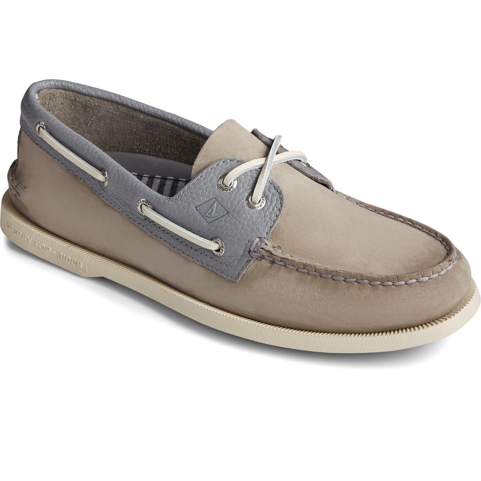 Sperry Men's A/O 2-Eye Nubuck Boat Shoe Various Colours 32920 - Grey 9