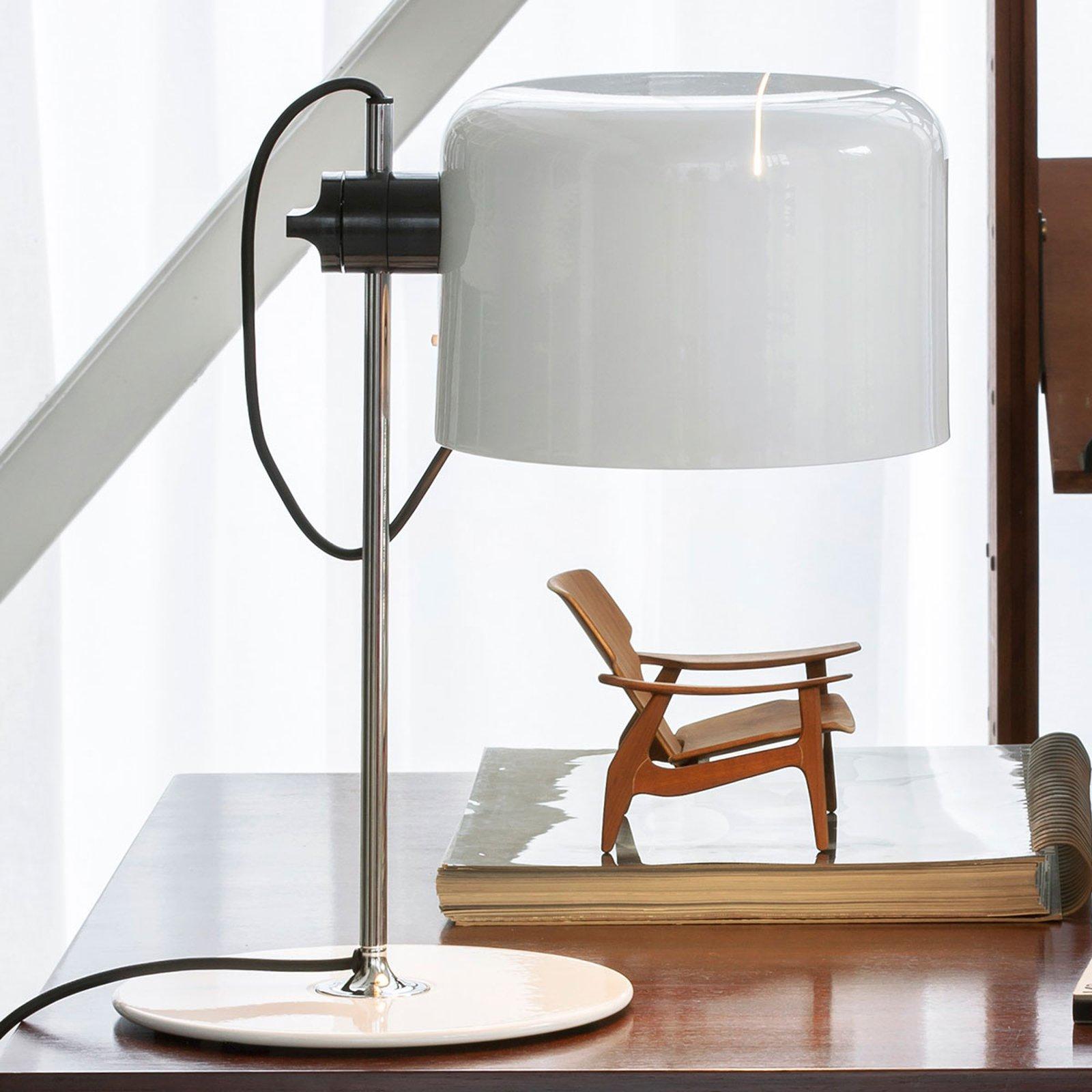 Coupé - tidløs design-bordlampe hvit