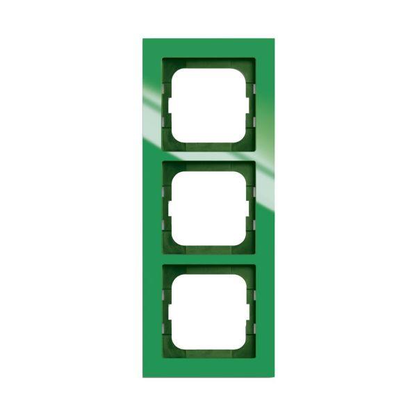 ABB Axcent Kombinasjonsramme grønn 3 rom