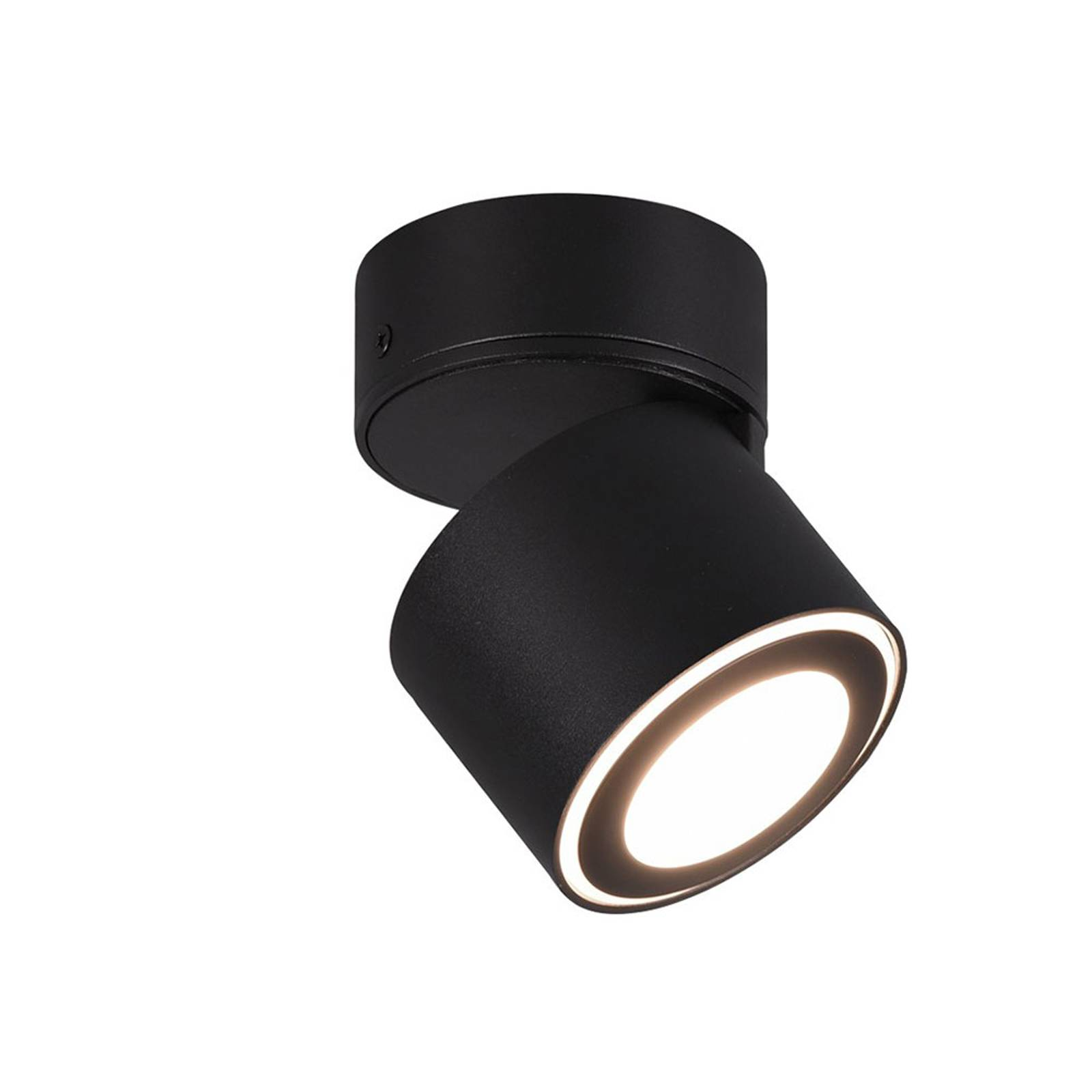 Lindby Lowie -LED-kohdevalaisin 2-lamppuinen musta