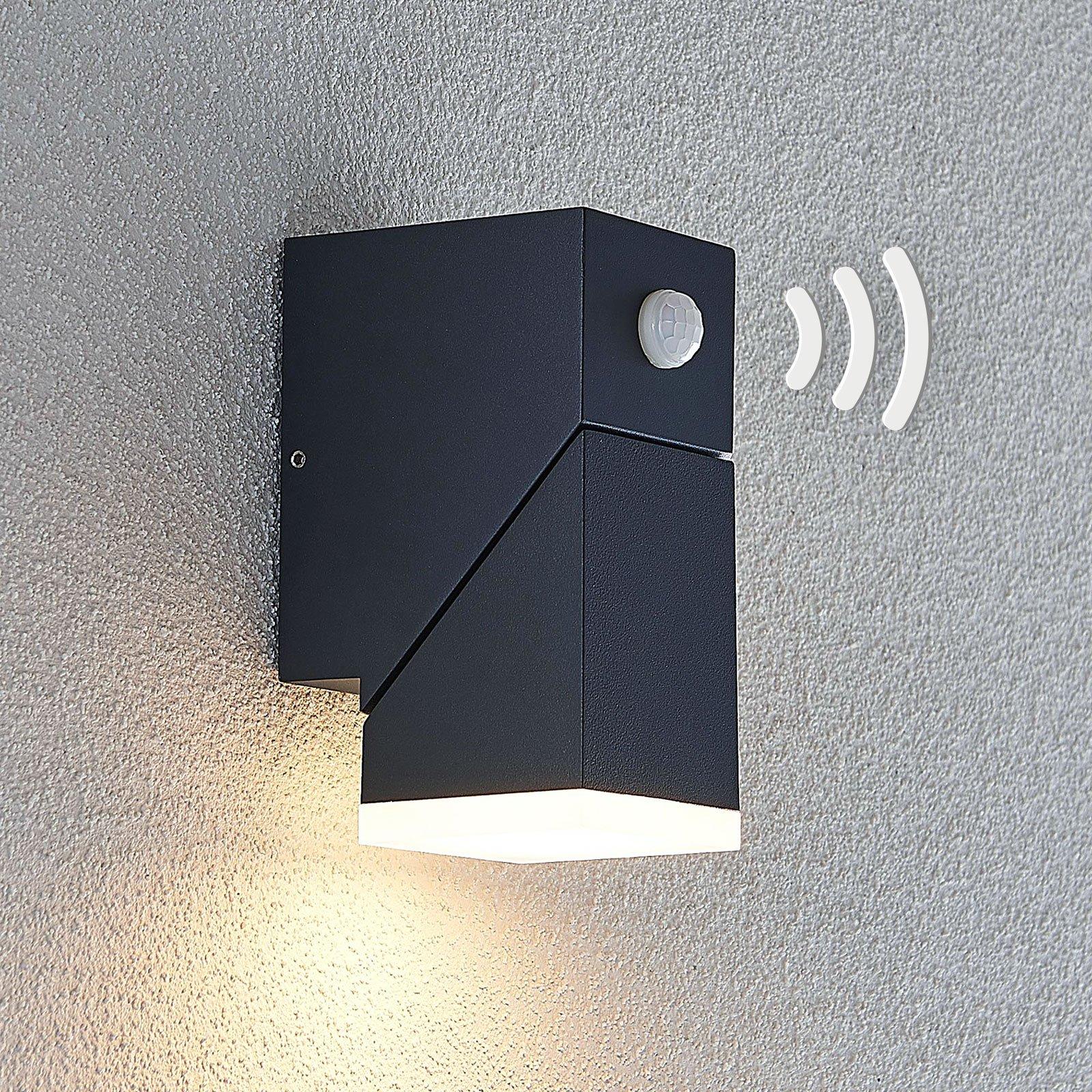 LED-utevegglampe Sally, 1 lyskilde, sensor