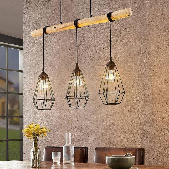 Lindby Eldarion -riippuvalaisin, 3-lamppuinen