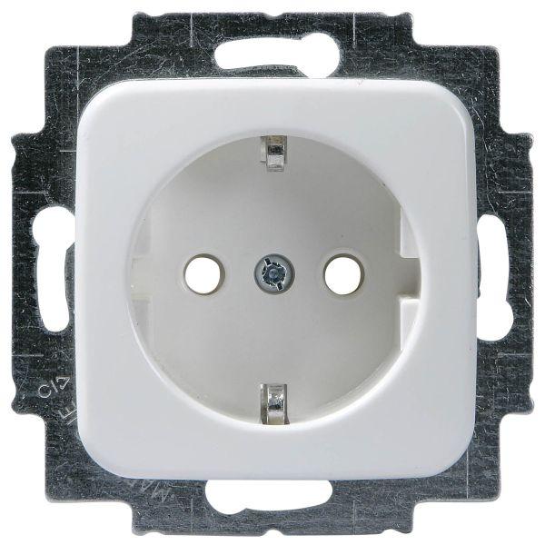 ABB 20EUC2 Seinäpistorasia 1-osainen, upotettava, kosketussuojaus Kiinnitys kiinnityskynsillä ja ruuveilla