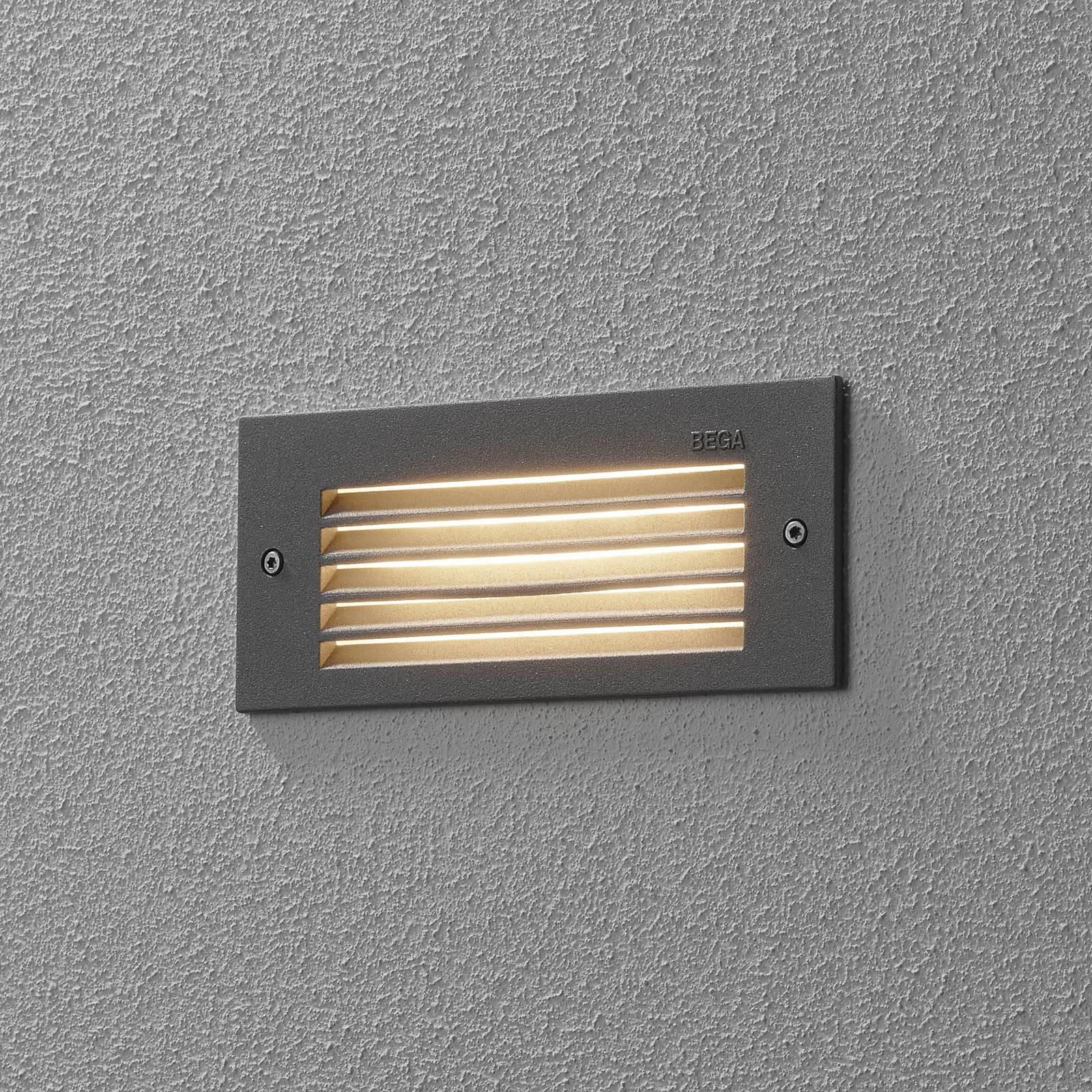 BEGA 33017 LED-seinäuppovalo 3000K hopea 17 cm