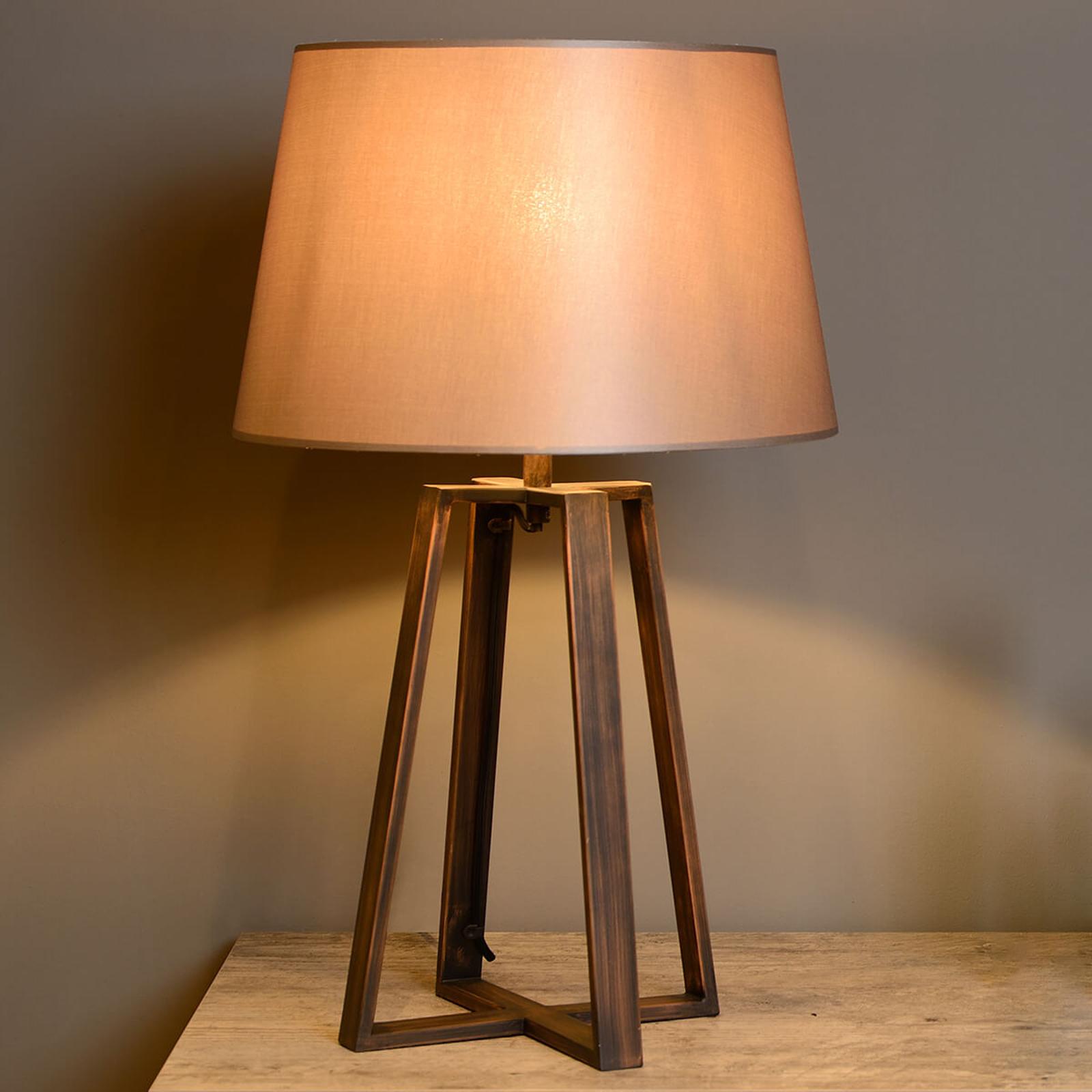 Coffee Lamp -pöytävalaisin, ruskea varjostin