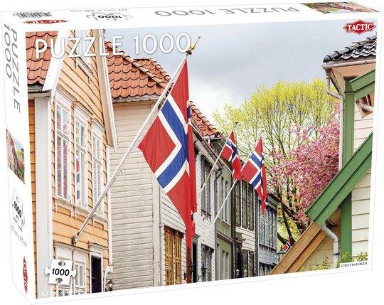 Tactic Puslespill Street in Bergen 1000 brikker
