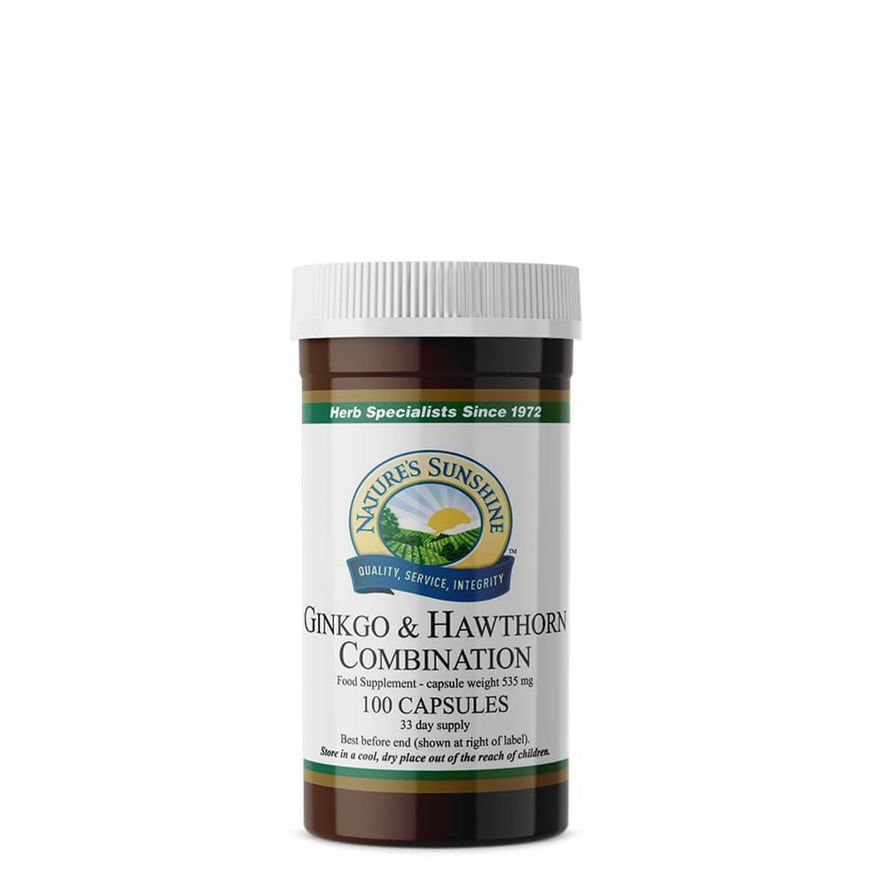 Ginkgo and Hawthorn (100 Capsules)