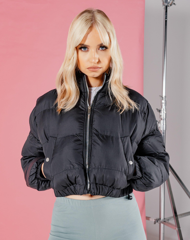 Crop Puffer Jacket - Black / 8