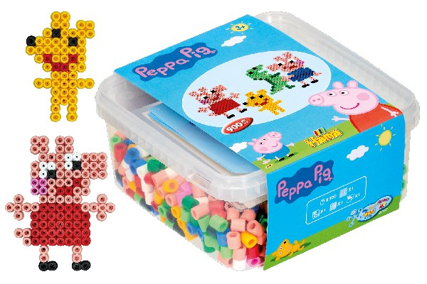Hama Maxi - Peppa Pig beads and pin plate in bucket (8750)