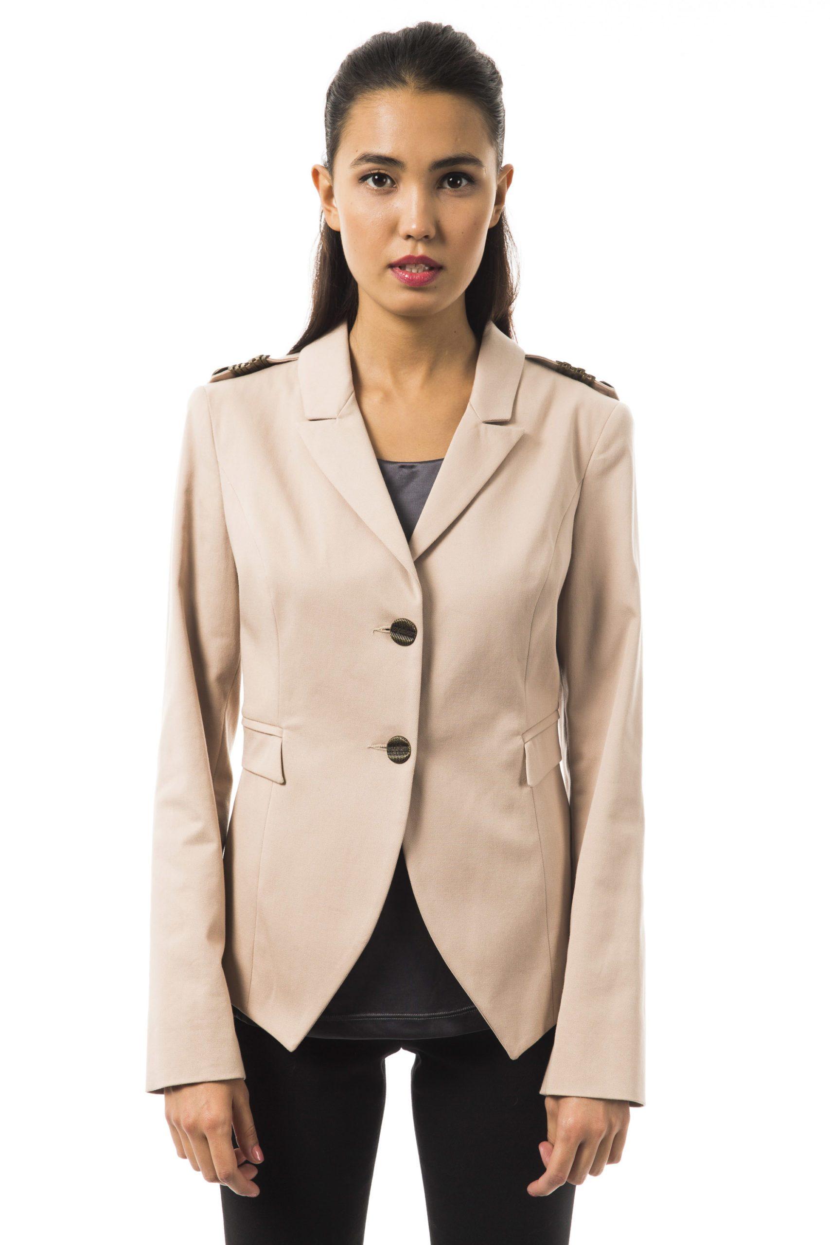 BYBLOS Women's Cartone Blazer Beige BY1263689 - IT40 | XS