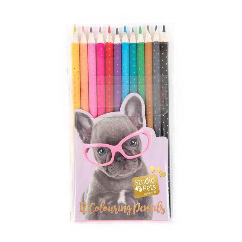 Studio Pets - Colouring Pencils, 12 pc (95-IT-23117)