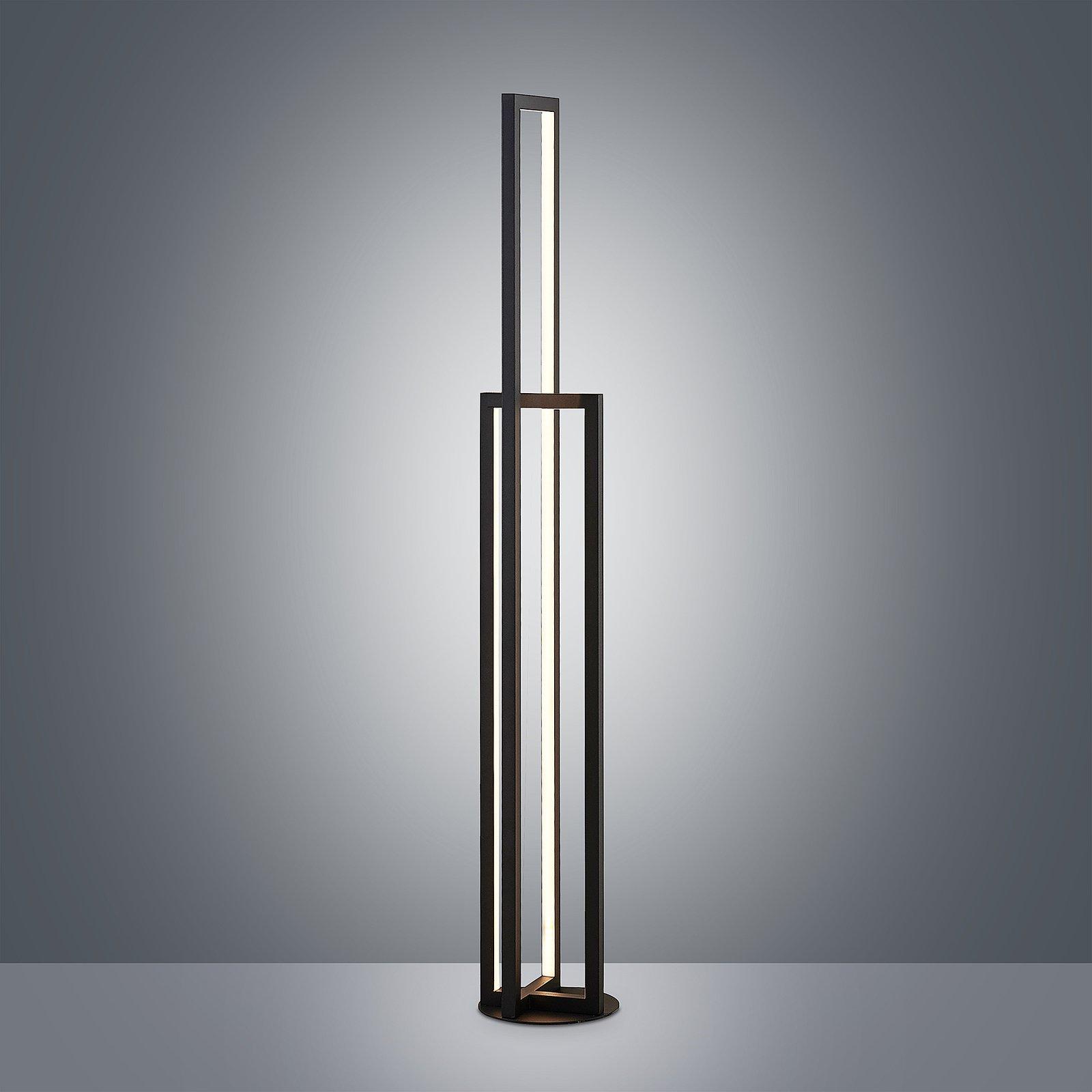 Lucande Hylda LED-gulvlampe i svart