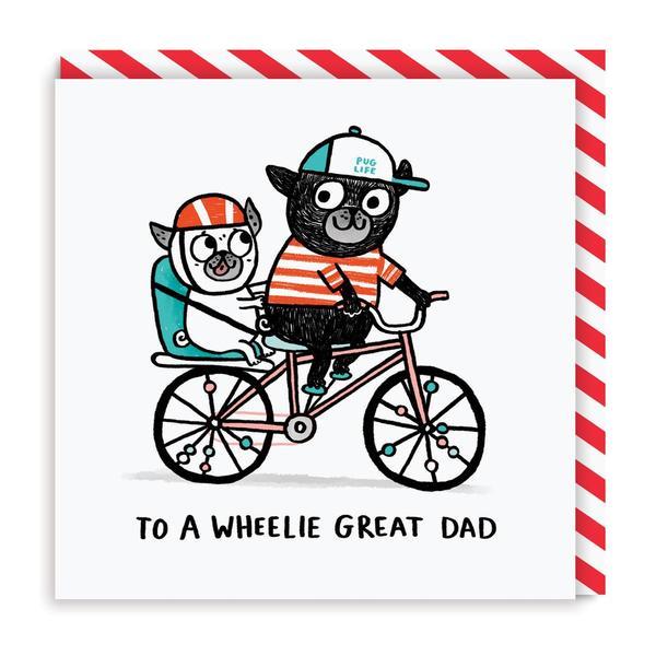 To A Wheeli Great Dad Greeting Card