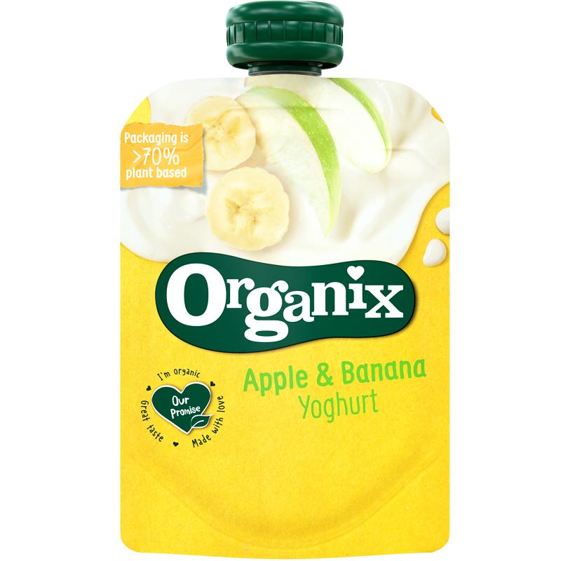 Eko Mellanmål Yoghurt, Äpple & Banan - 35% rabatt