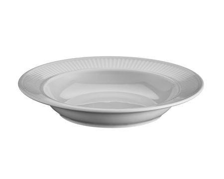 Plissé tallerken dyp lys grå - 22 cm