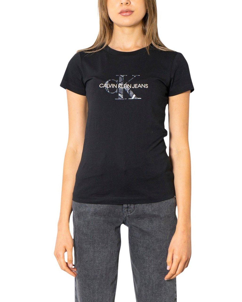 Calvin Klein Jeans Women T-Shirt Various Colours 299976 - black XS