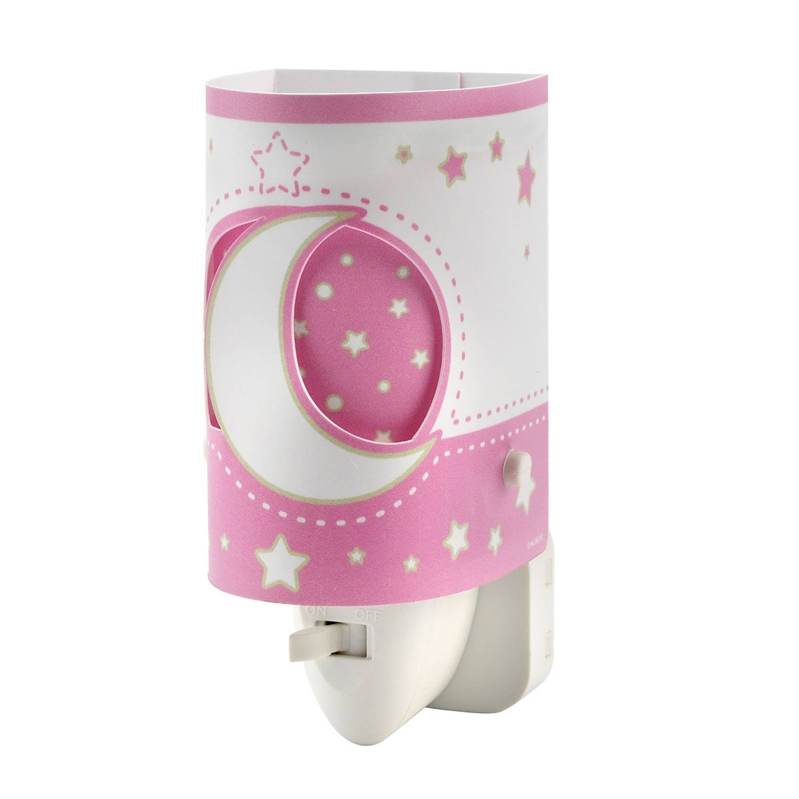 Babyegnet Stars LED-nattlampe i rosa