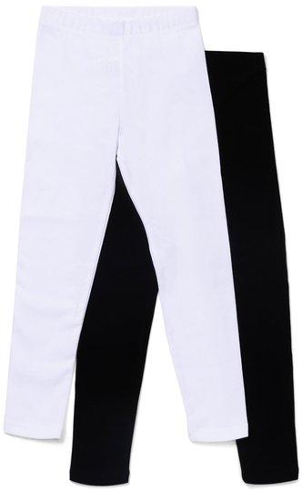 Luca & Lola Venetia Lange Leggings 2-Pack, Black/White 110-116