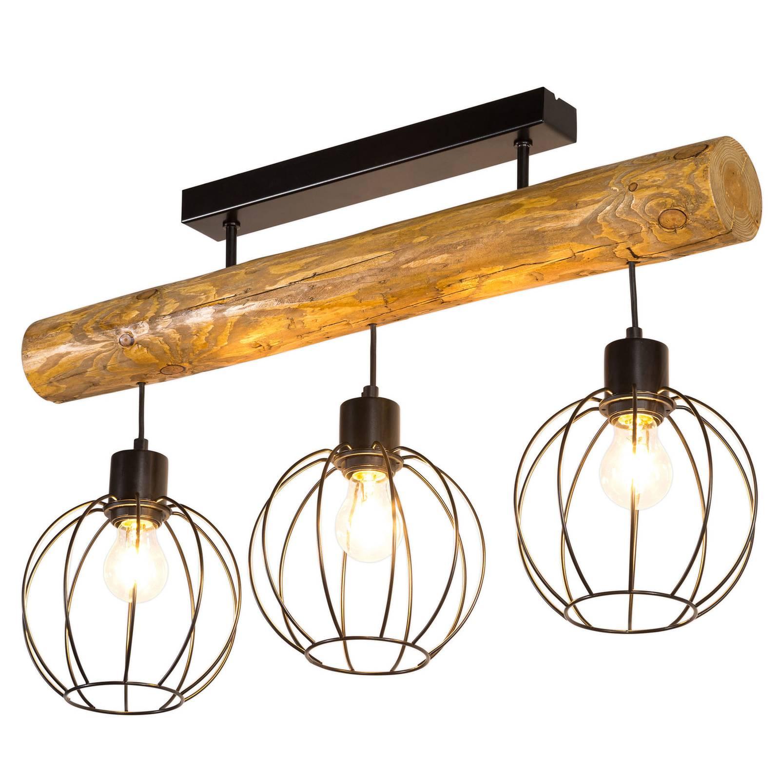 Kattovalaisin Karou, 3-lamppuinen, ruskea