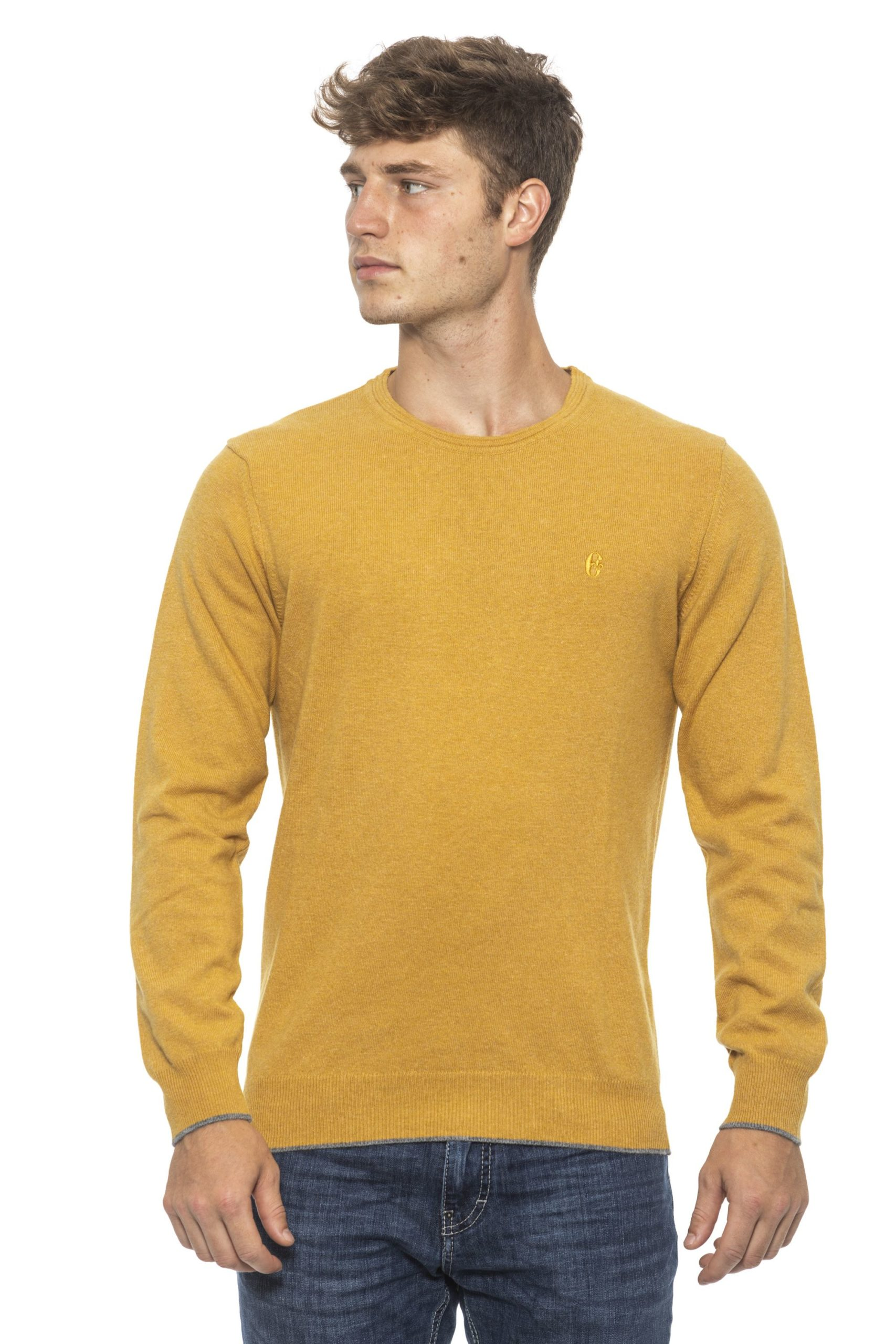 Conte of Florence Men's Sweater Yellow CO1272779 - S