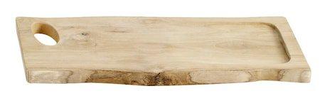 Skjærebrett Aiko Natur Ny teak 25x2,5x55 cm