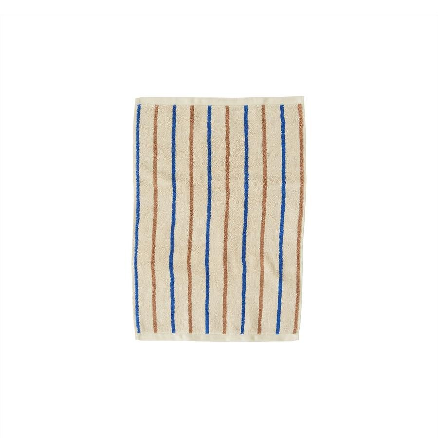 OYOY Living - Raita Organic Towel - 40x60 cm - Caramel / Optic Blue