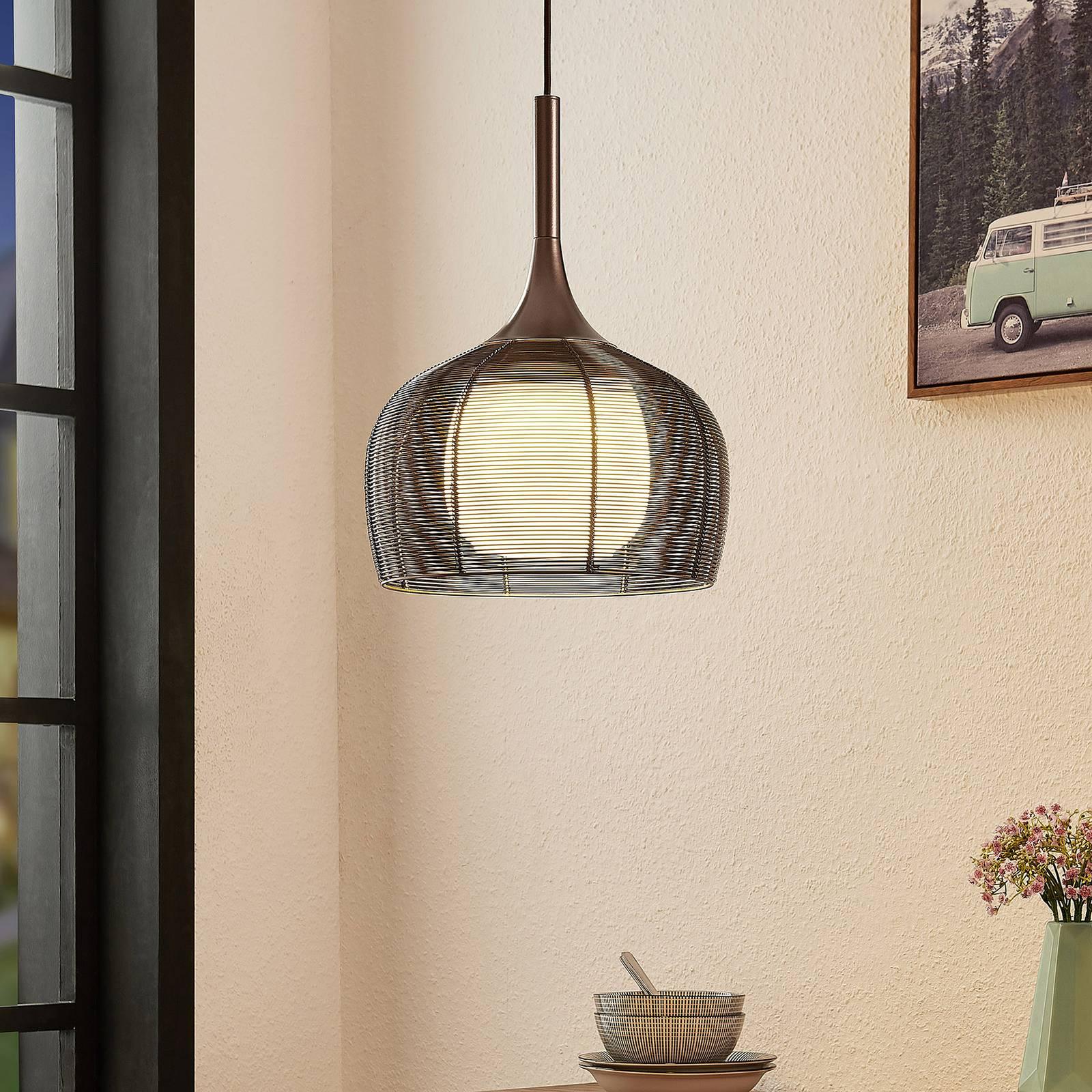 Lucande Tetira -riippuvalo, 1-lamppuinen 30 cm
