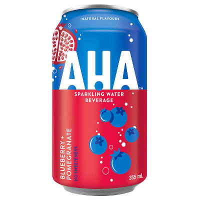 AHA Blueberry Pomegranate Sparkling Water 355ml