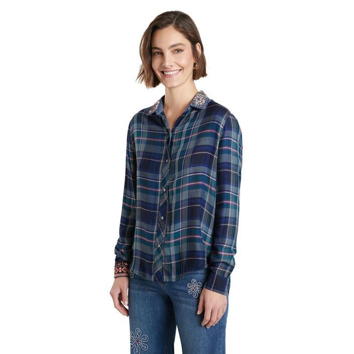 Desigual - Desigual Women Shirt - blue XS