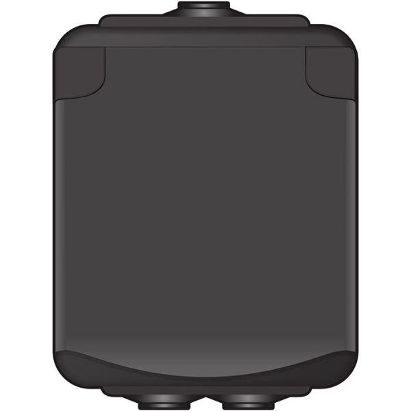 Norwesco AquaBest 1860010 Seinäpistorasia 1-osainen, koteloitu, musta