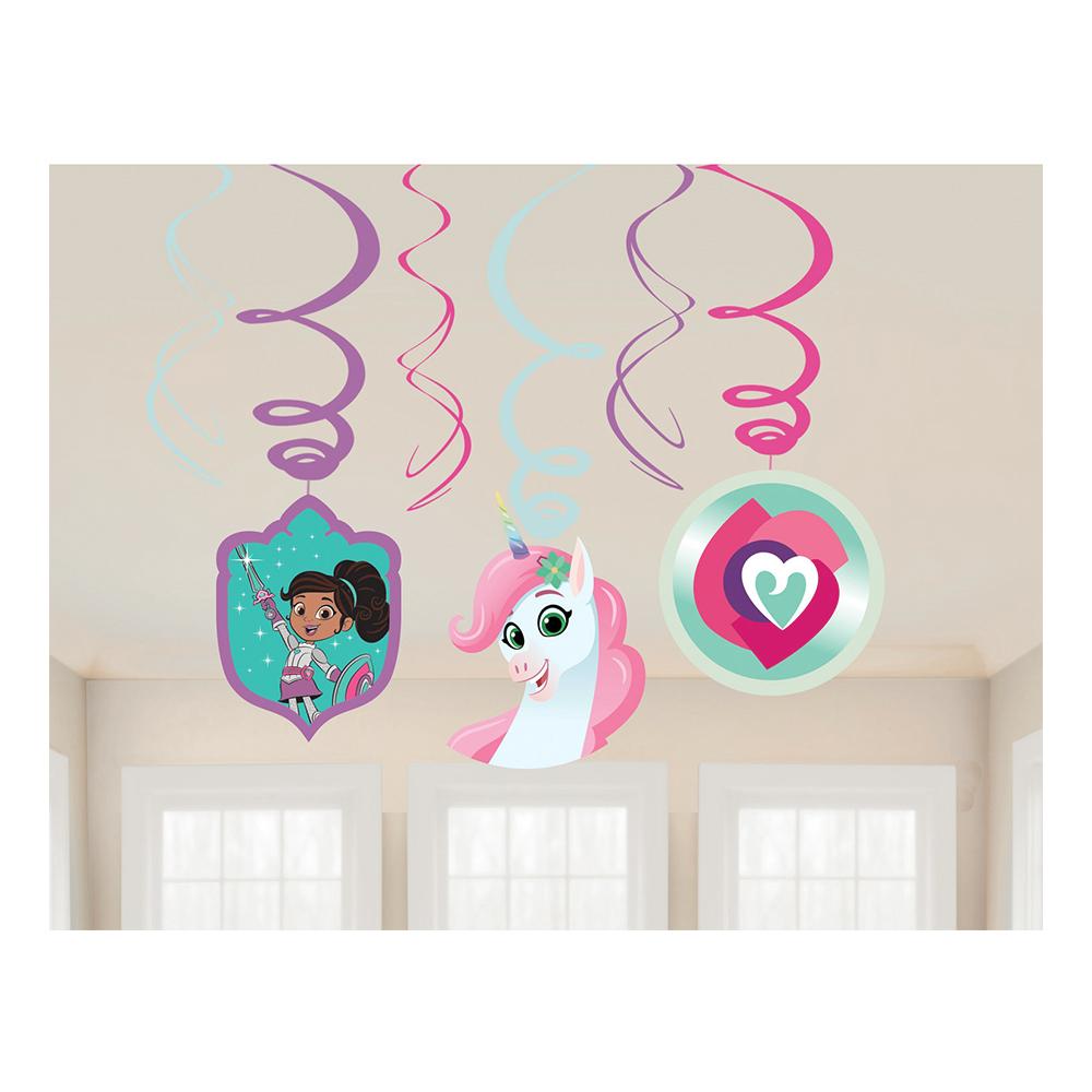 Swirls Nella Riddarprinsessan Hängande Dekoration - 6-pack