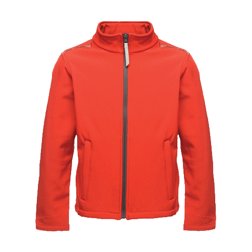 Regatta Kid's Classmate Softshell Jacket Various Colours T_TRA683 - Classic Red 5/6 Years