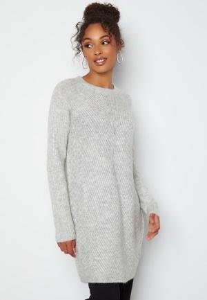 ONLY Carol L/S Dress Knit Light Grey Melange M