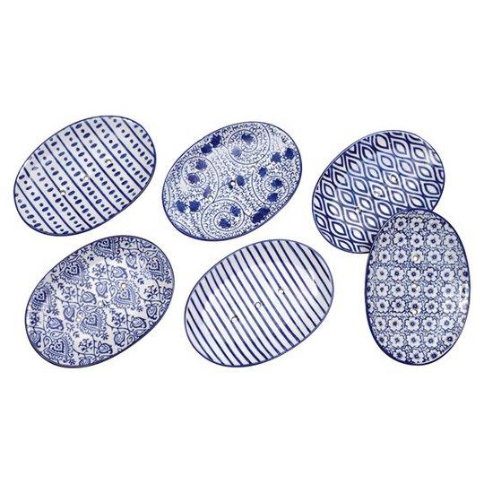 Redecker Tvåfat Keramik Oval, 14,5 x 11,5 cm