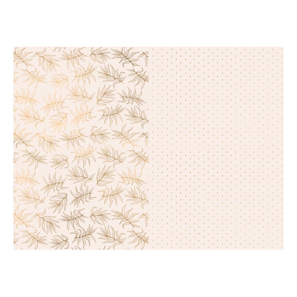 Presentpapper Prickigt/Löv Pastellrosa - 2-pack