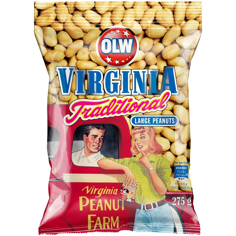 Jordnötter Virginia Traditional - 25% rabatt