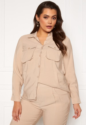 Happy Holly Maria woven shirt Light beige 52/54