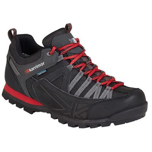 Karrimor Men's Low Rise Waterproof Hiking Boots Multicolor Spike Low - Black/Red UK-12