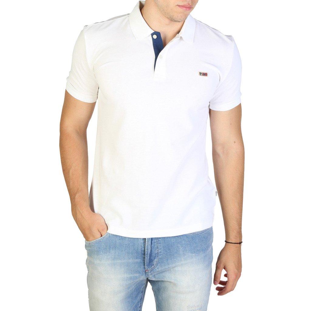 Napapijri Men's Polo Shirt Various Colours TALY3_NP0A4EGD - white S