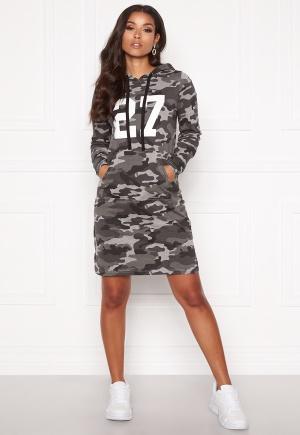 Happy Holly Camila tricot hood Grey melange / Camouflage 52/54