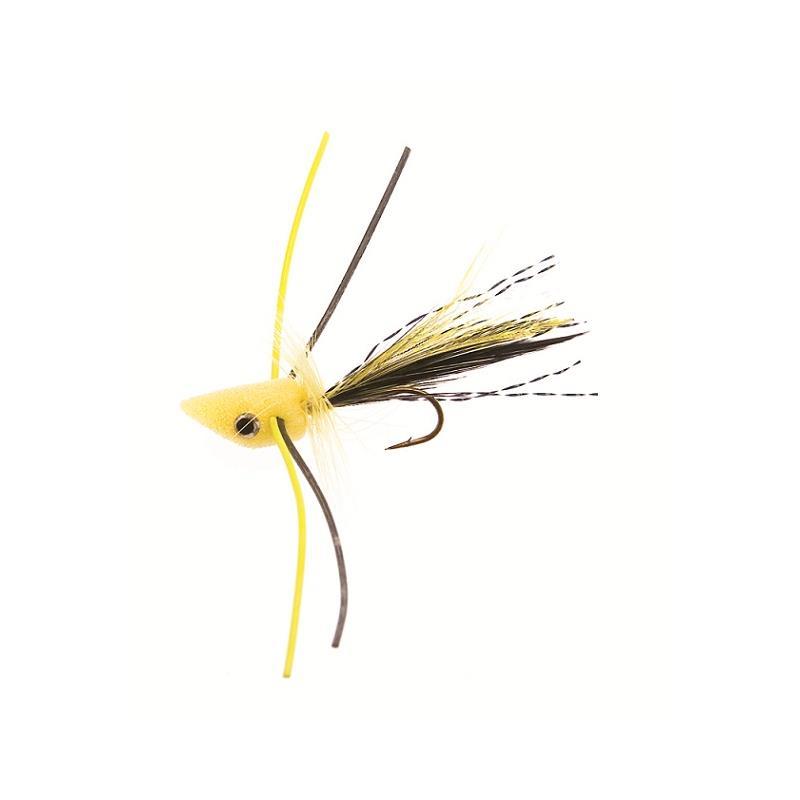 Trout Popper #10 - Yellow Kjøp 12 fluer få gratis flueboks