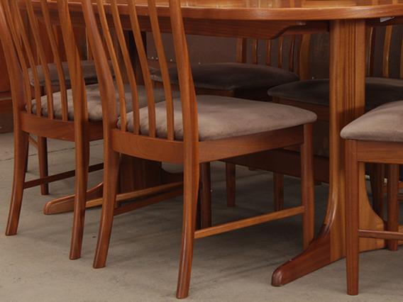 Retro Teak Dining Table by McIntosh Brown Medium